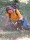 Auch Bürste (Hund vom Müritz Ranger) kam nicht zu kurz